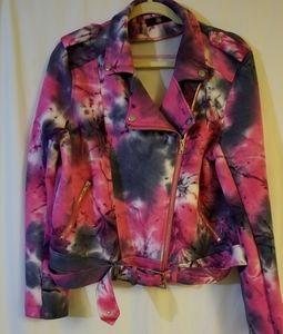 Tie Dye Moto Jacket